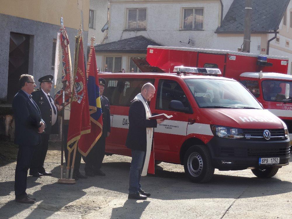 Křest hasičského auta