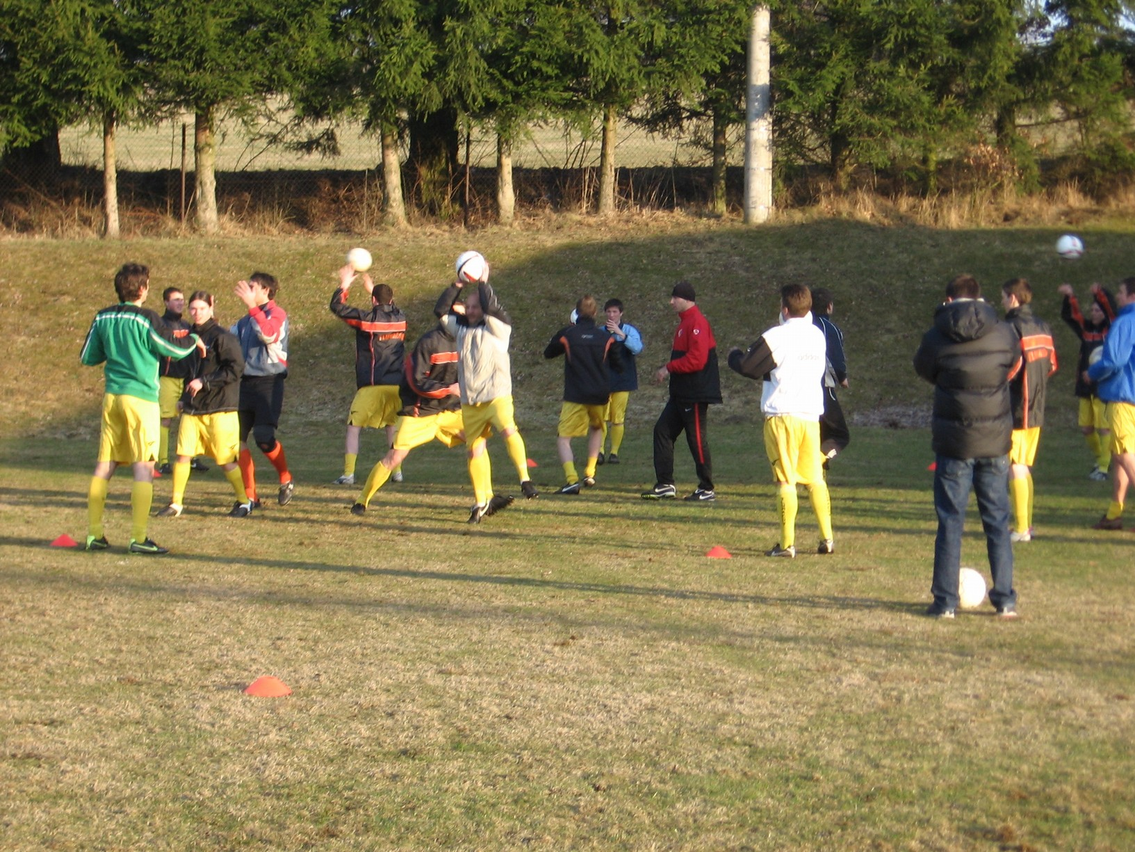 Trénink tlumačovský fotbalistů s trenéry Sparty